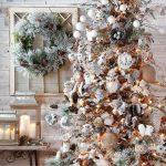 Navidad 2017 tendencias en decoración arbol blanco con dorado