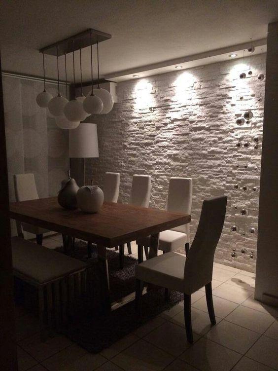 Piedra laja para decorar el interior de tu hogar for Revestimiento ceramico paredes interiores
