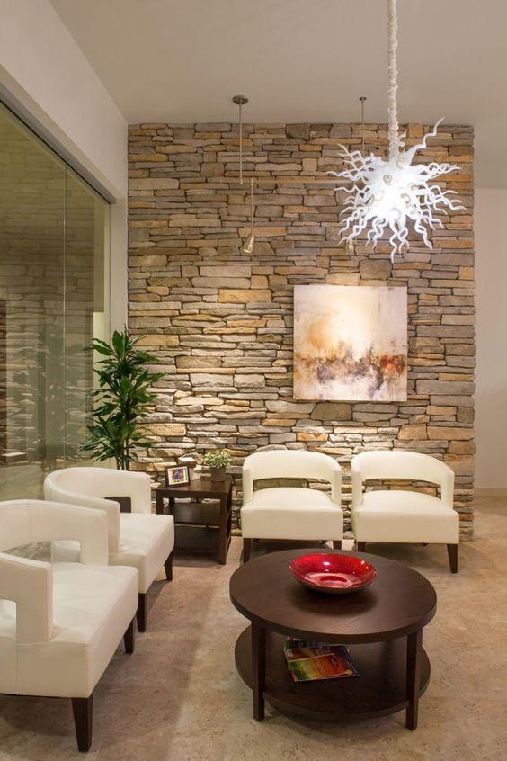 Decoracion Con Piedras En Interiores El Uso De Mampostera De Piedra - Decoracion-con-piedras-en-interiores