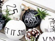 Decoración navideña en blanco y negro 2017 – 2018