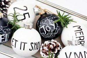 Decoracion navidena en blanco y negro 2017 - 2018 (10)