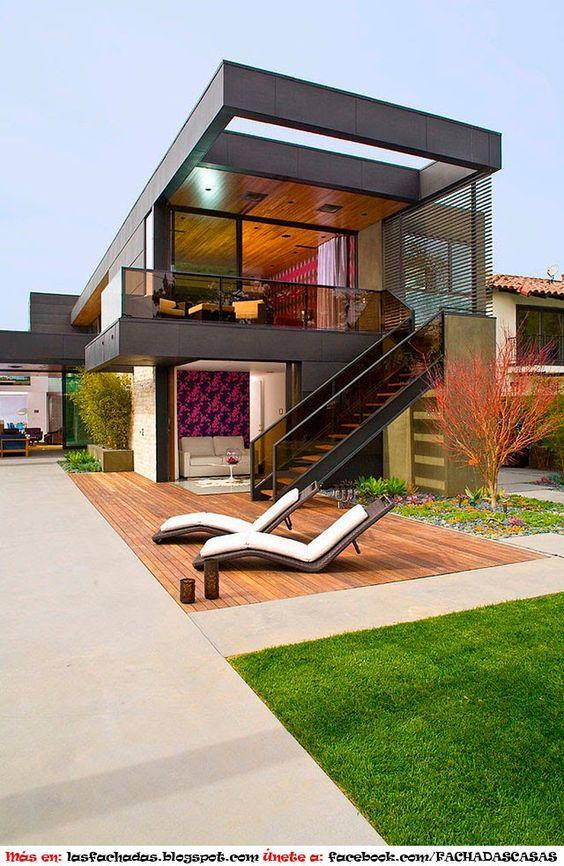 Escaleras para exterior for Escaleras exteriores para casas de dos pisos