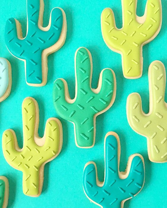 Ideas para decorar galletas artesanales de cactus
