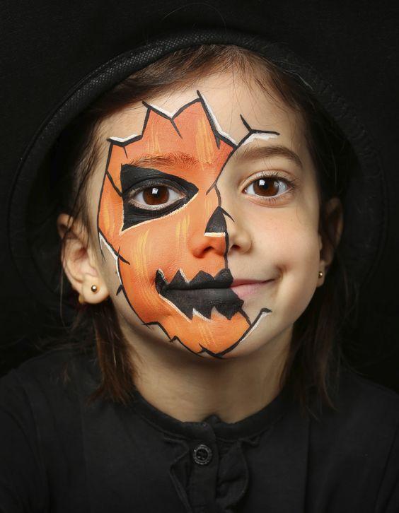 maquillaje de halloween fácil para niños