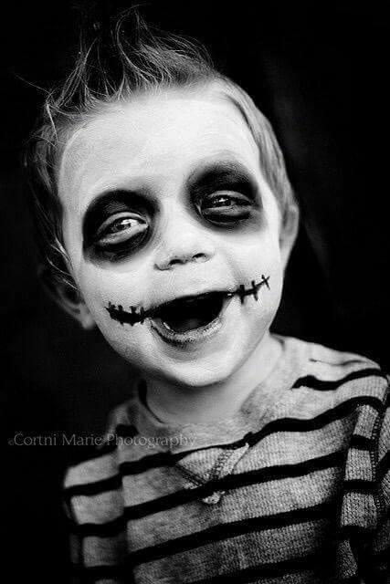 Maquillaje para halloween para niños moderno