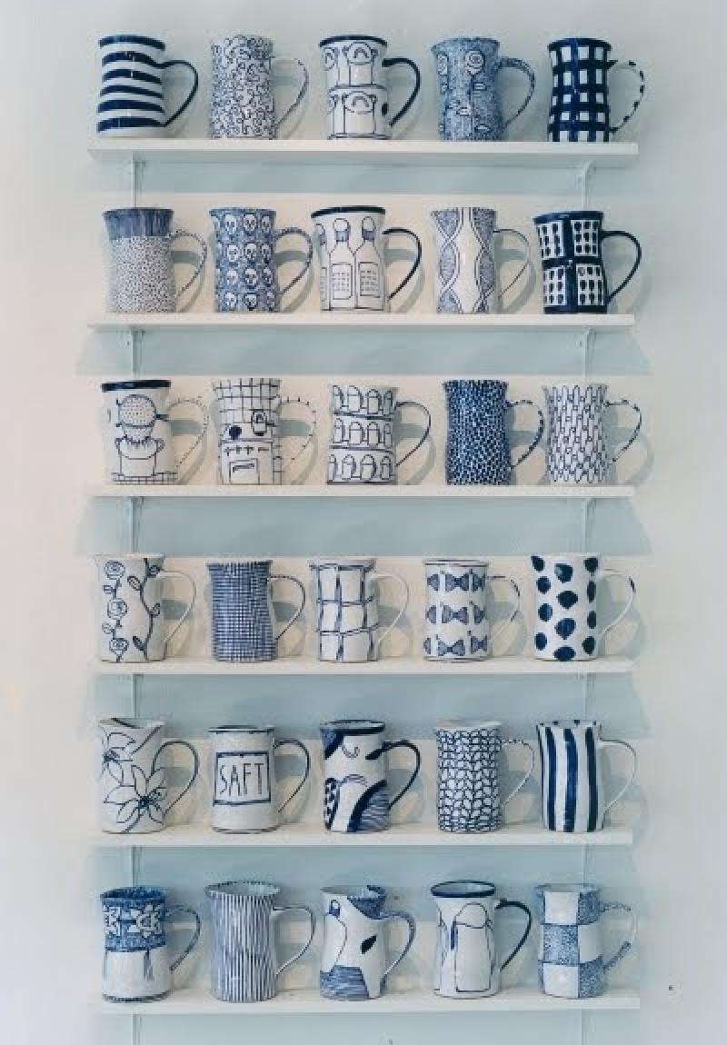 Como organizar tazas