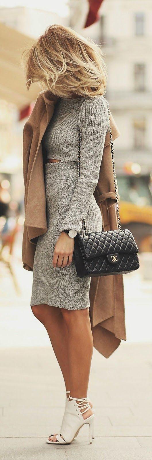 Sacos color marrón para este otoño - invierno