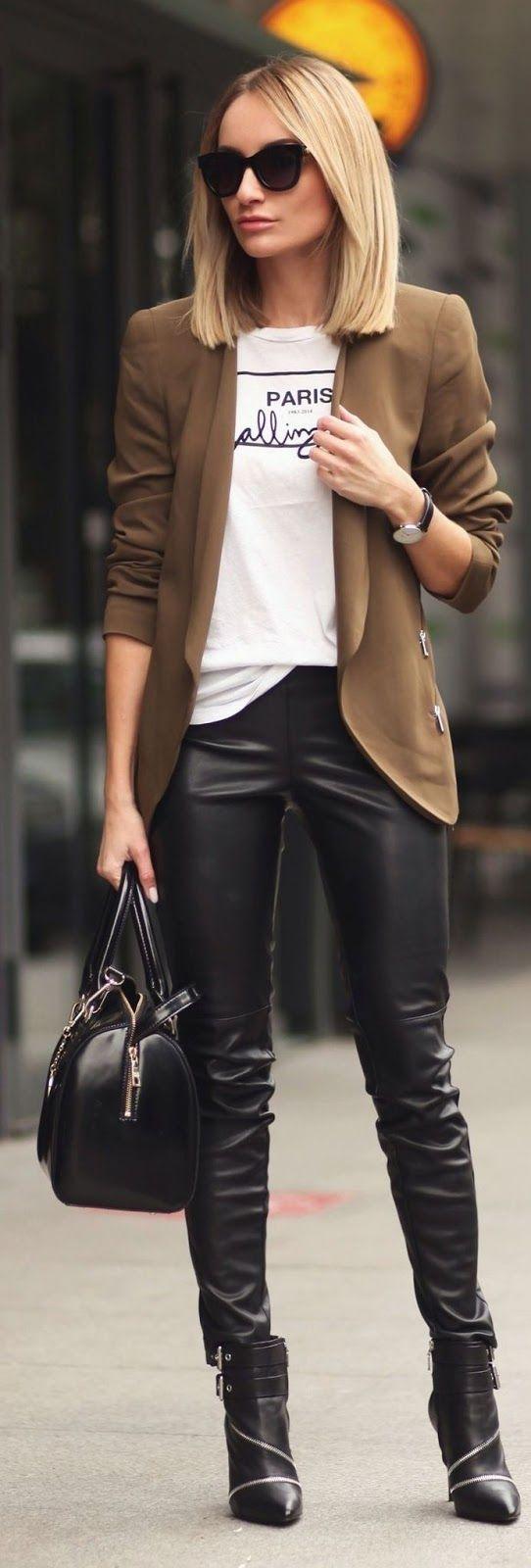 Blazer en color marrón