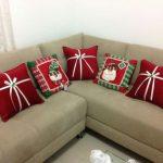 Cojines navideños que le darán un aspecto lindo a tu casa 2017 - 2018 con figuras y moños
