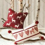 Cojines navideños que le darán un aspecto lindo a tu casa 2017 - 2018 rojo con blanco