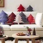 Cojines navideños que le darán un aspecto lindo a tu casa 2017 - 2018 en forma de pino