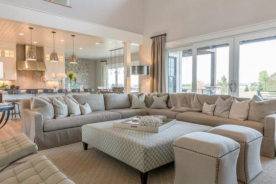 Como decorar una sala de estar grande 12 curso de for Como decorar sala grande
