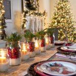 Como montar una mesa para la cena navideña 2017 - 2018 con velas