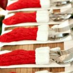 Como montar una mesa para la cena navideña 2017 - 2018 cubiertos