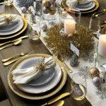 Como montar una mesa para la cena navideña 2017 - 2018 golden