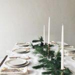 Como montar una mesa para la cena navideña 2017-2018 blanca