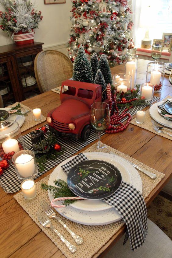 Como montar una mesa para la cena navide a - Mesa navidena ...