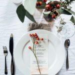 Como montar una mesa para la cena navideña 2017-2018 plato