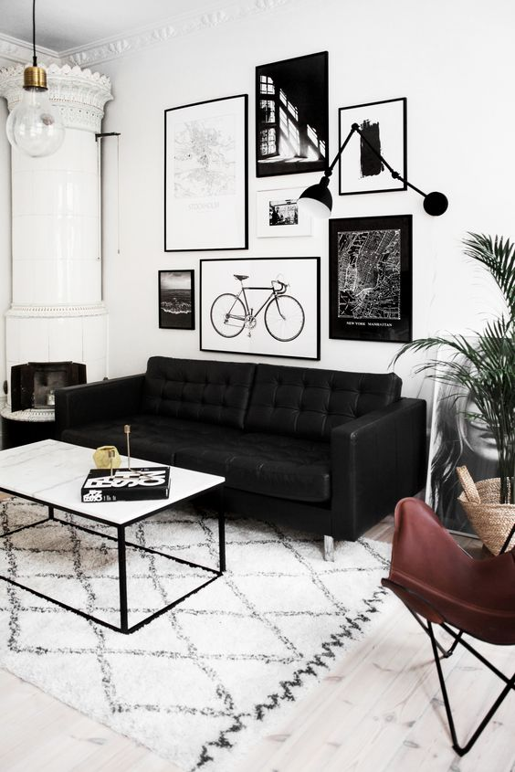 pictures of black and white living rooms decoraci 243 n de interiores con blanco y negro 27836