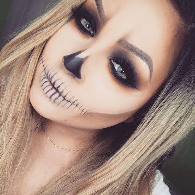 Maquillaje De Halloween Para Mujer Que Querras Lucir Este 2017 12 - Maquillage-para-halloween