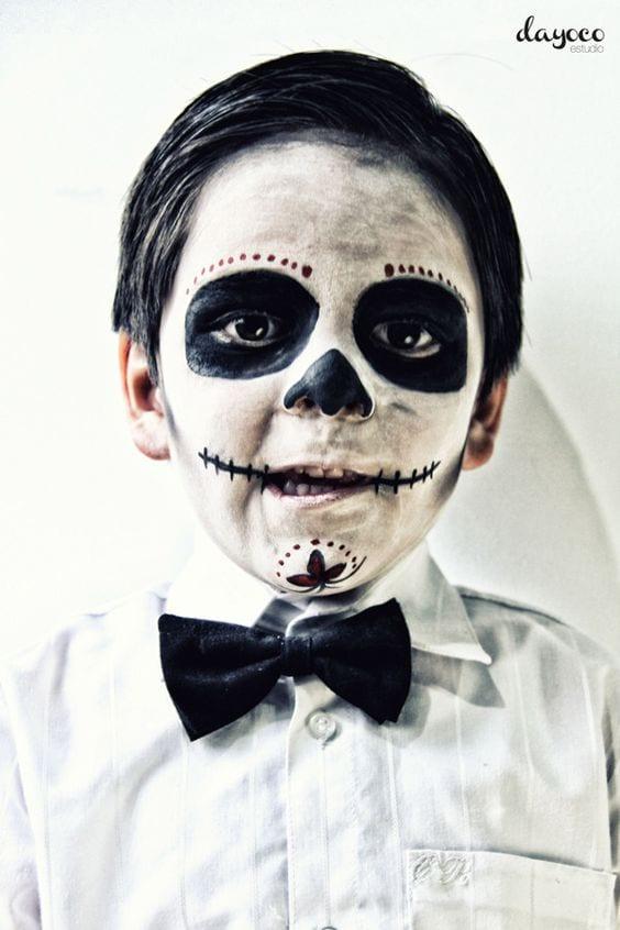 maquillaje para halloween para niños