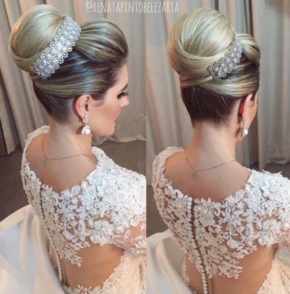 Peinados para novia 2017 2018 for Recogidos altos para novias