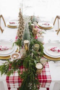 Propuestas novedosas de decoración navideña 2017 cena