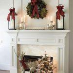 Propuestas novedosas de decoración navideña 2017 chimenea