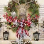 Propuestas novedosas de decoración navideña 2017 para entrada