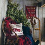 Propuestas novedosas de decoración navideña 2017 arbol y entre sala