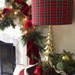 Propuestas novedosas de decoración navideña 2017 lampara y chimenea