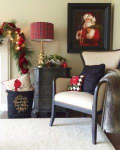 Propuestas novedosas de decoración navideña 2017 Sala de estar