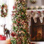 Propuestas novedosas de decoración navideña 2017 decoracion de pino con chimenea