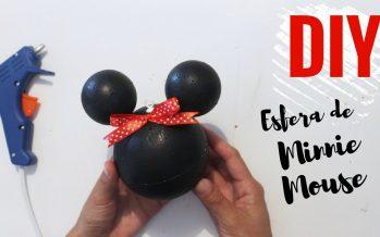 Como hacer una esfera de Minnie Mouse DIY – paso a paso
