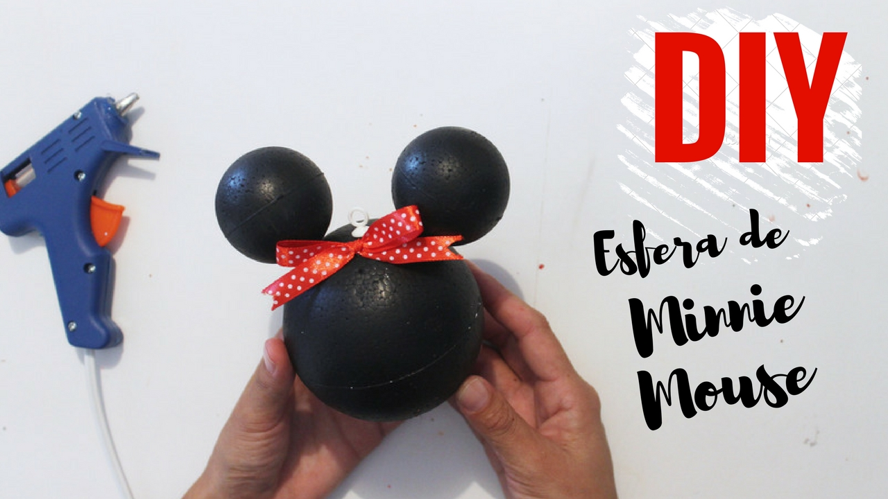 Como hacer una esfera de Minnie Mouse DIY - paso a paso