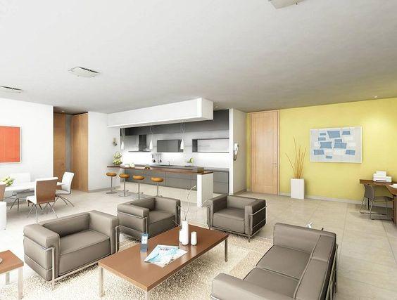 Decoracion de Sala-Comedor y Cocina en una Sola Habitacion (13)