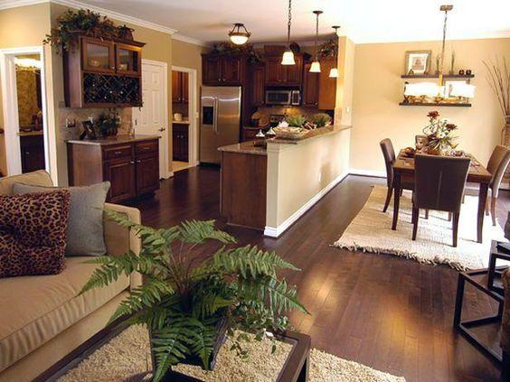 Decoracion de Sala-Comedor y Cocina en una Sola Habitacion (2)