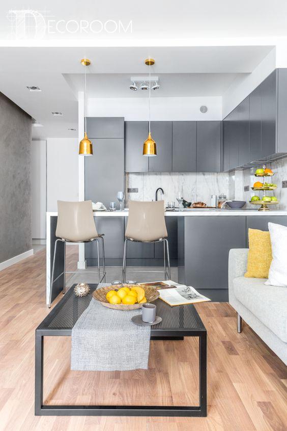 Decoracion de Sala-Comedor y Cocina en una Sola Habitacion (7)