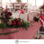 Decoración para un Baby Shower de Niña en color Rojo