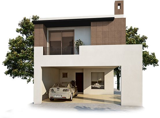 Fachadas para casas peque as curso de organizacion del for Fachadas de piedra para casas pequenas
