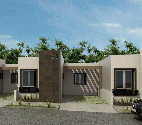 Fachadas para casas peque as 9 curso de organizacion - Ideas para fachadas exteriores ...