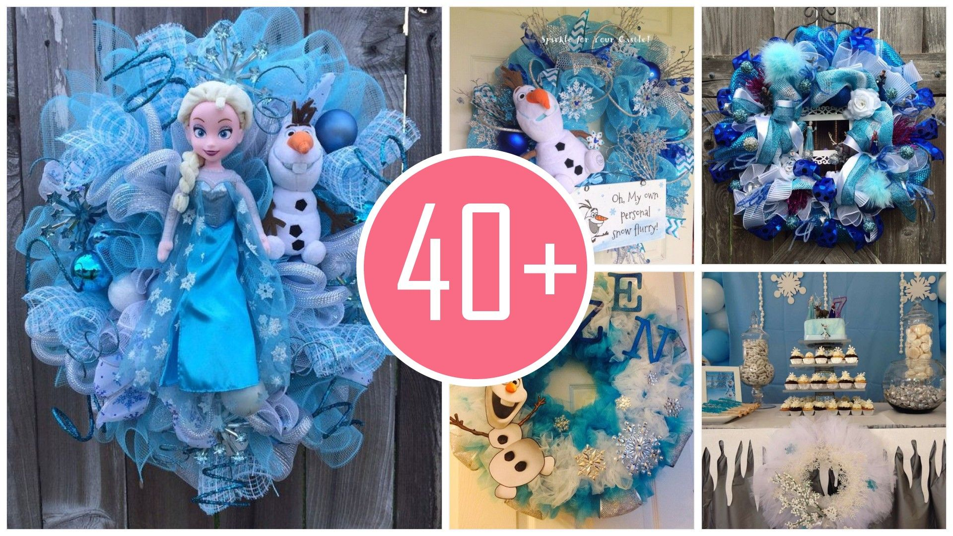 Ideas de decoracion navidena de frozen 2017 - 2018 (41)