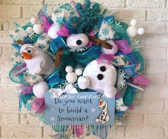 Ideas de decoración navideña de frozen 2017 - 2018 (5)