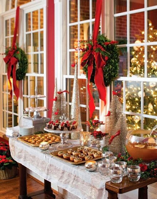 Mesas de postres para la cena de navidad 2017 - 2018 Te van a encantar (11)