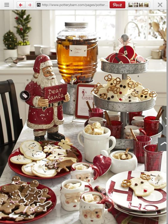 Mesas de postres para la cena de navidad 2017 - 2018 Te van a encantar (14)
