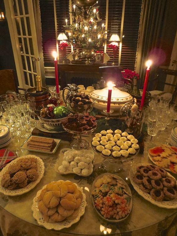 Mesas de postres para la cena de navidad 2017 - 2018 Te van a encantar (18)