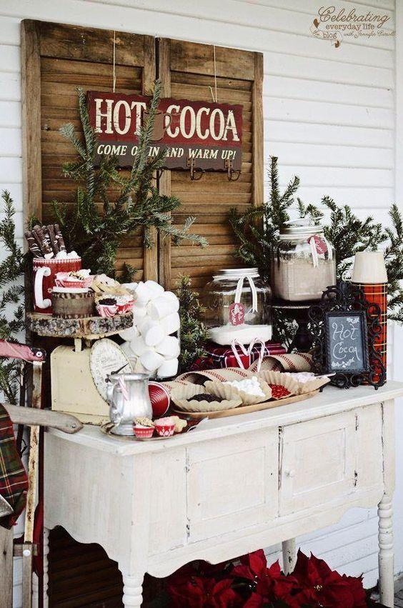 Mesas de postres para la cena de navidad 2017 - 2018 Te van a encantar (20)