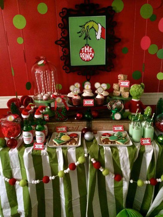 Mesas de postres para la cena de navidad 2017 - 2018 Te van a encantar (21)