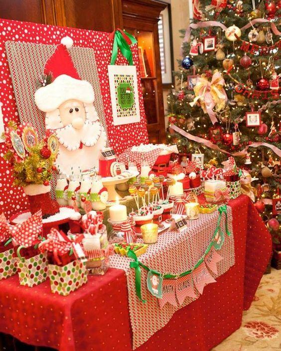 Mesas de postres para la cena de navidad 2017 - 2018 Te van a encantar (22)
