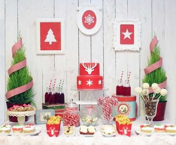 Mesas de postres para la cena de navidad 2017 - 2018 Te van a encantar (23)